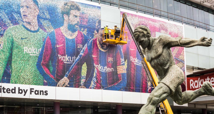 Barça : le visage de Lionel Messi effacé du Camp Nou